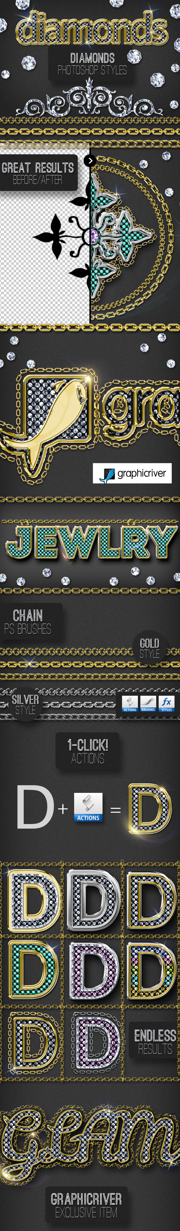 GraphicRiver Bling Bling Diamond Photoshop Style Creator 10250581