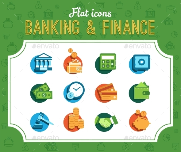 GraphicRiver Banking Icons 10250635