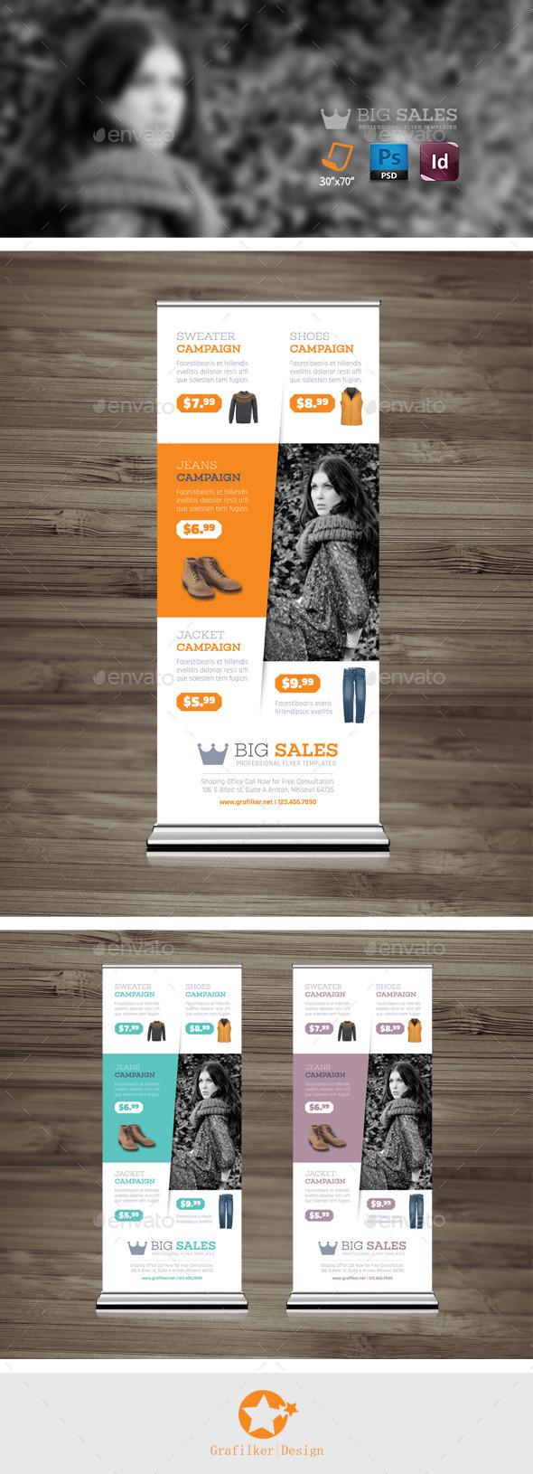 GraphicRiver Shopping Roll-Up Templates 10250642