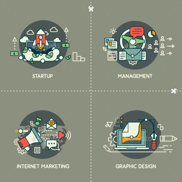Startup Management Marketing Design
