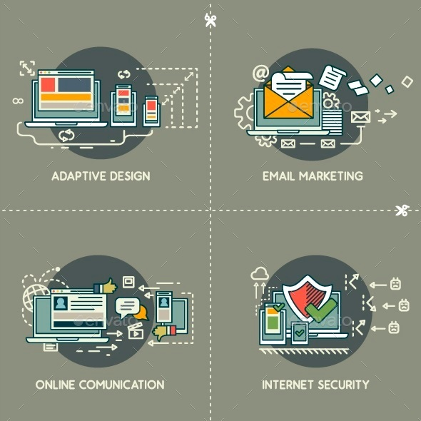 GraphicRiver E-Marketing Adaptive Design Comunication Security 10250756