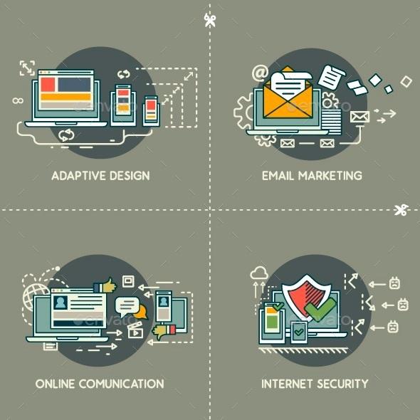 GraphicRiver E-Marketing Adaptive Design Comunication Security 10250756