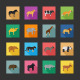Color Flat Icons - Animals - GraphicRiver Item for Sale