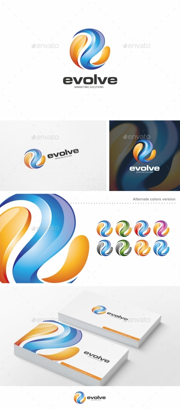 GraphicRiver Evolve Logo Template 10251096