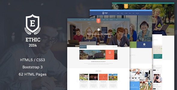 ThemeForest ETHIC Education Event and Course Template 10251143