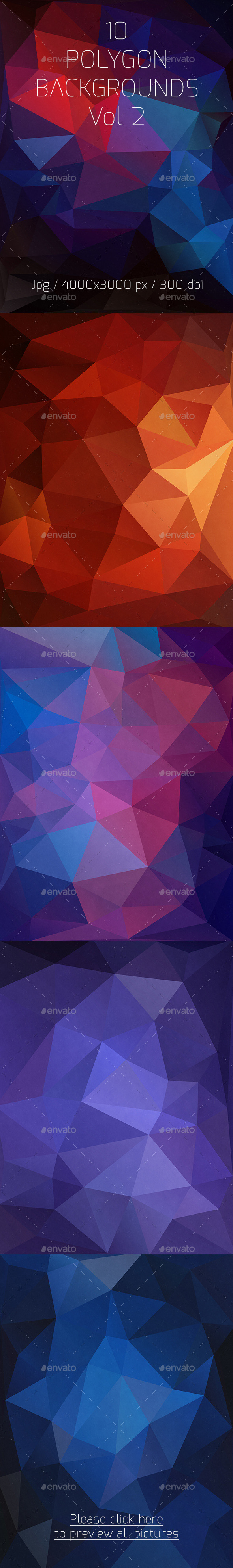 GraphicRiver 10 Polygon Backgrounds Vol 2 10251207