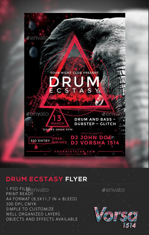 GraphicRiver Drum Ecstasy Flyer 10251314