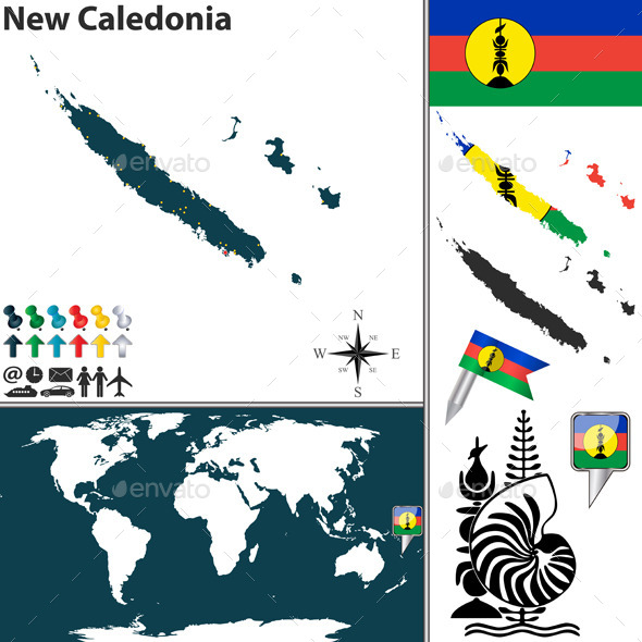 GraphicRiver Map of New Caledonia 10251338