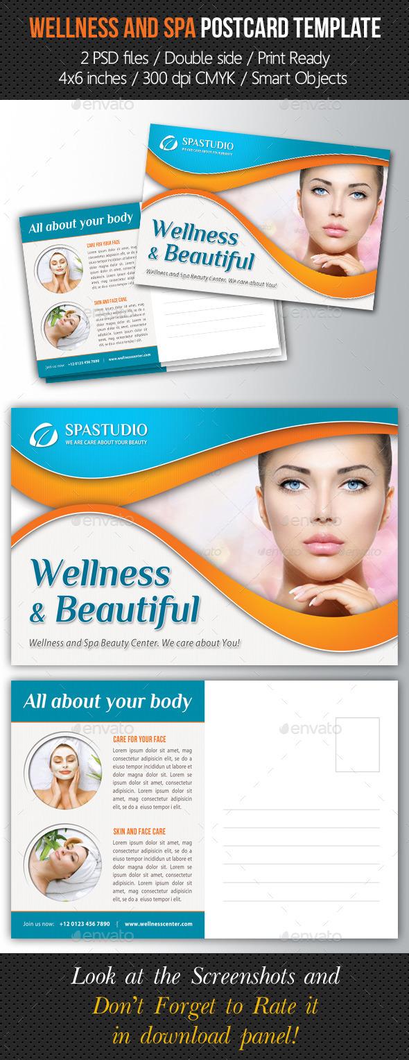 GraphicRiver Wellness and Spa Postcard Template V01 10251379