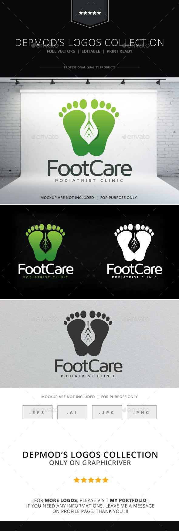 GraphicRiver Foot Care V.02 Logo 10251397