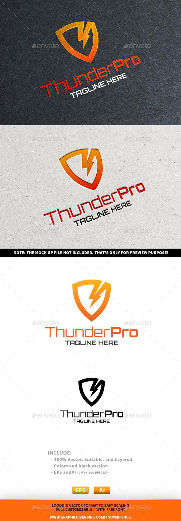 GraphicRiver ThunderPro Logo 10251477