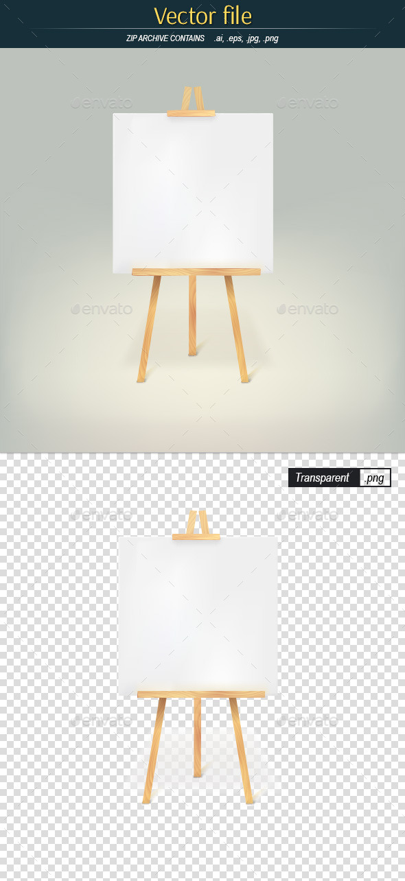 GraphicRiver Wooden Tripod with White Sheet of Paper 10251479