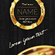 Gold Food Menu - GraphicRiver Item for Sale