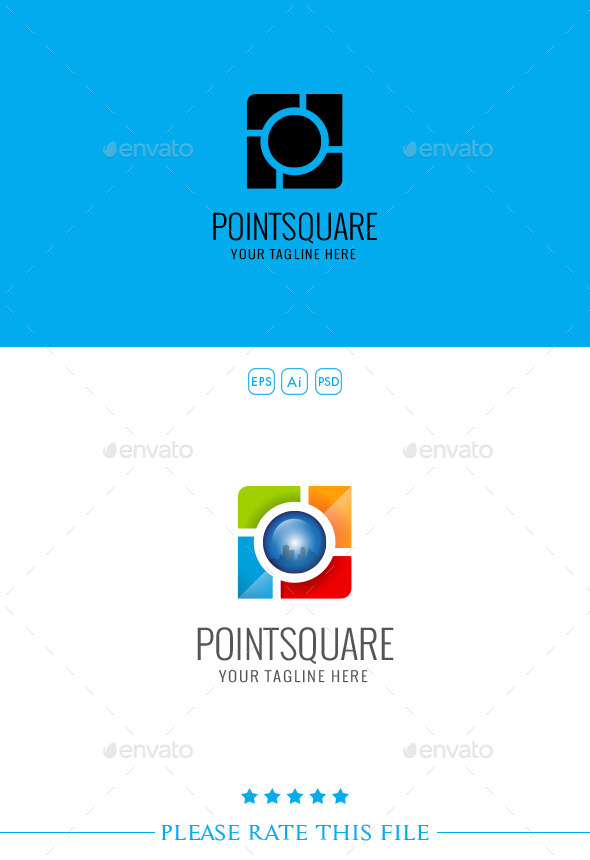 GraphicRiver Point Square Logo 10251569