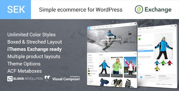 SEK iThemes Exchange Shop WordPress Theme