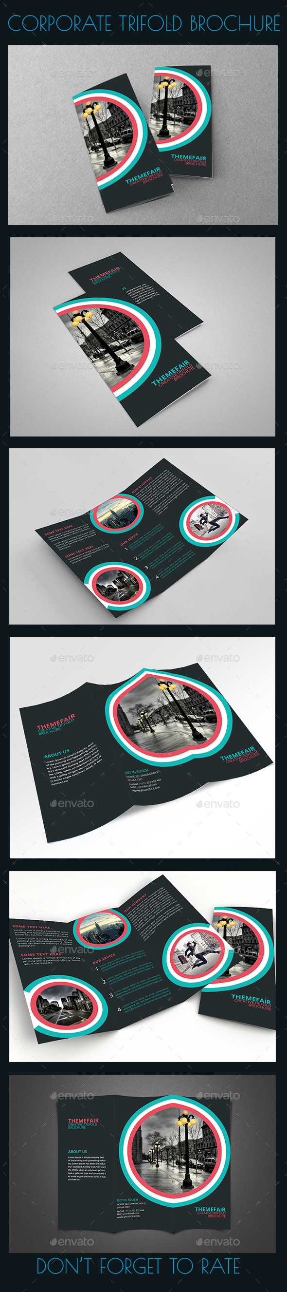 GraphicRiver Modern Trifold Brochure 10156324