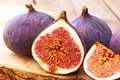 Fresh figs on wooden table - PhotoDune Item for Sale