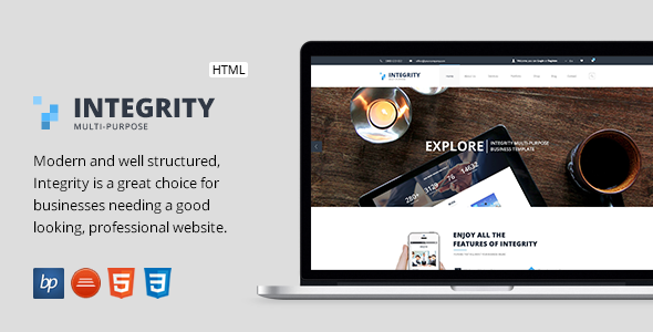 ThemeForest Integrity Responsive Business HTML5 Template 10252263