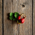 Rose hip over old wooden background - PhotoDune Item for Sale