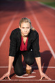 business woman ready to sprint - PhotoDune Item for Sale