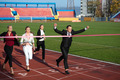 business people running on racing track - PhotoDune Item for Sale
