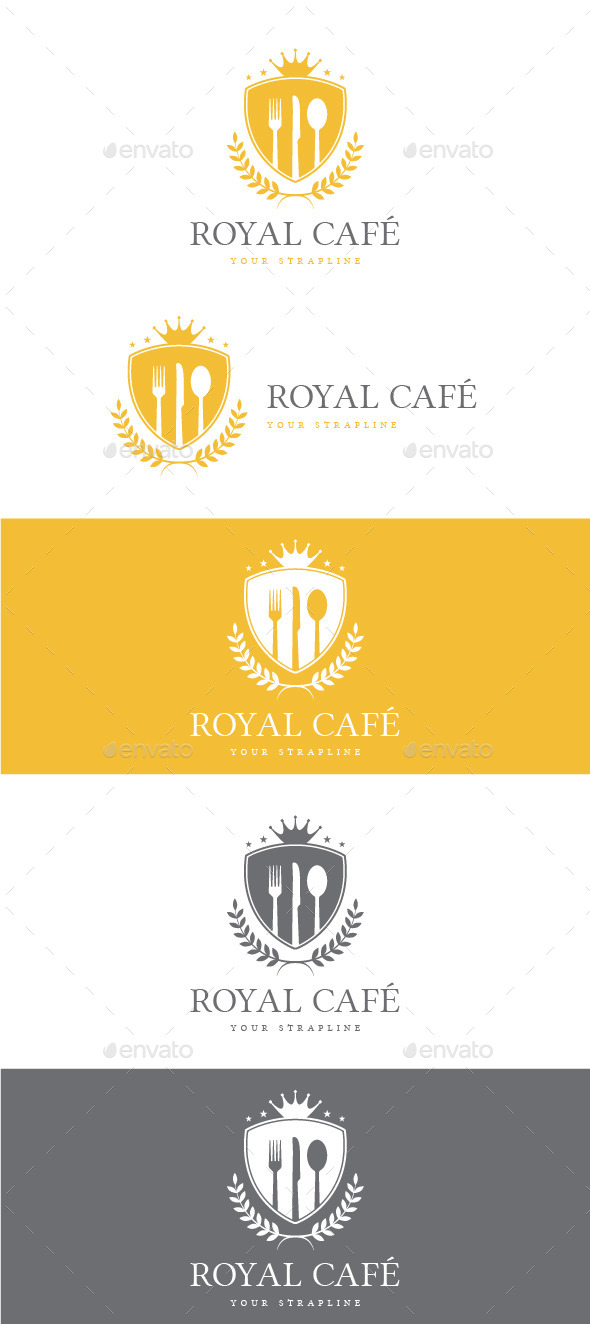 GraphicRiver Royal Cafe Logo 10252487