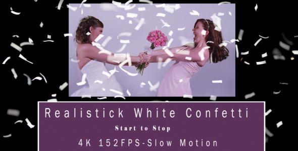 Realistic White Confetti