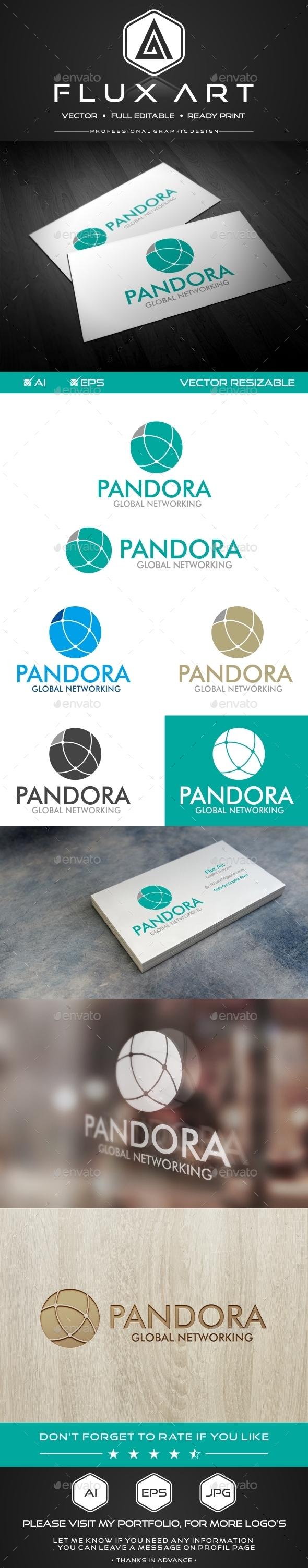 GraphicRiver Pandora Networking Logo 10252642