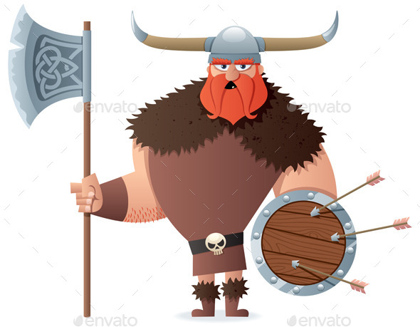 GraphicRiver Viking on White 10252750