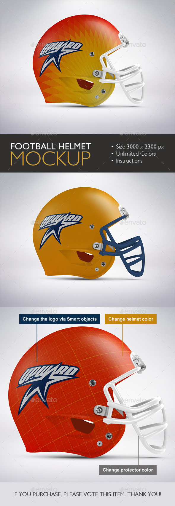 GraphicRiver Football Helmet Mockup 10253028