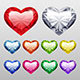 Vector Gem Hearts Set - GraphicRiver Item for Sale
