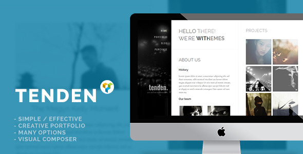 ThemeForest Tenden Simple Creative Portfolio Theme 10160298