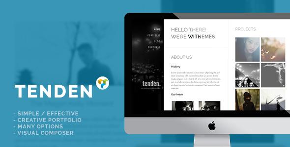 Tenden - Simple Creative Portfolio Theme