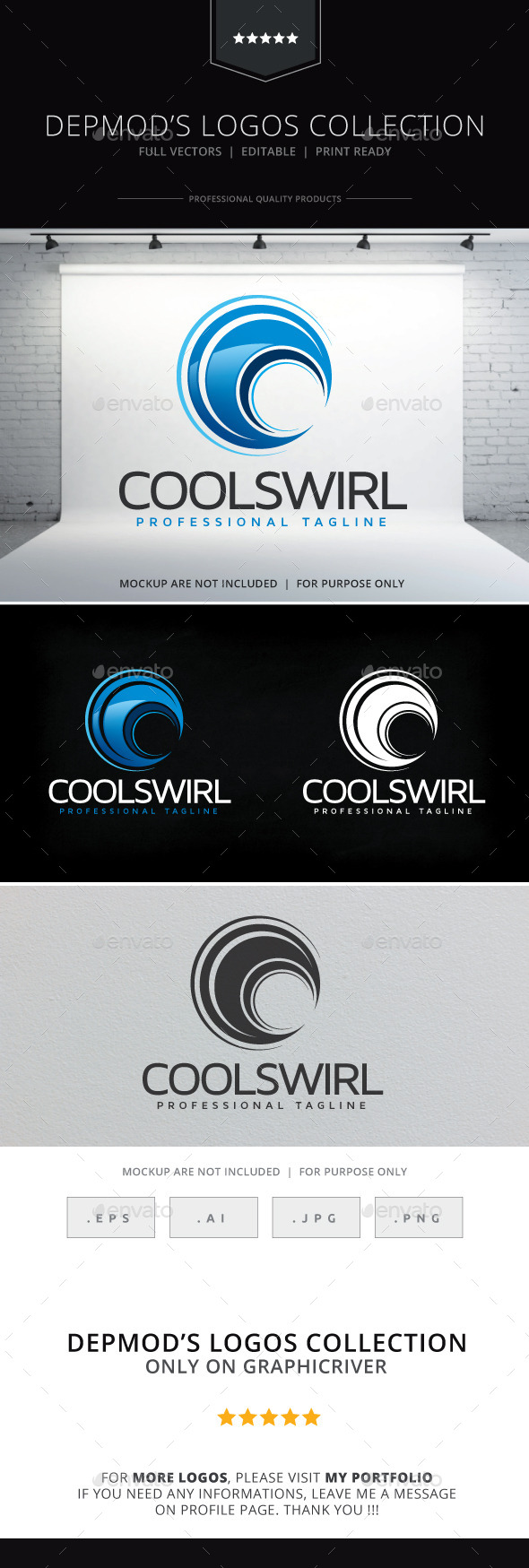 GraphicRiver Cool Swirl Logo 10253136