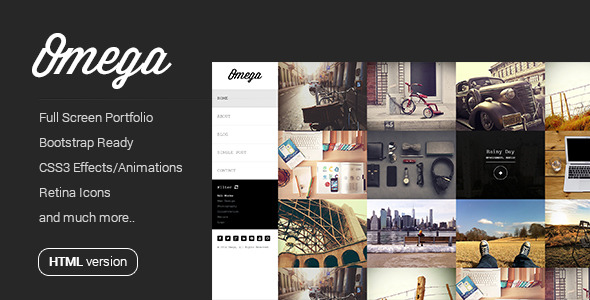 Omega - Full Width HTML Portfolio
