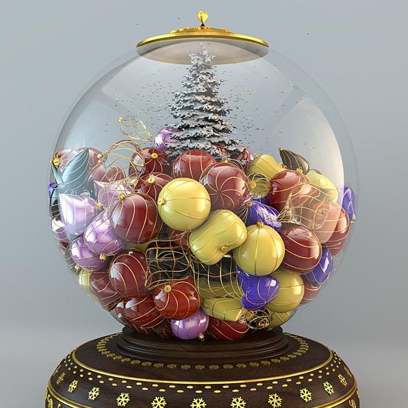 3DOcean Snow Globe Christmas Hi-Res 1032474