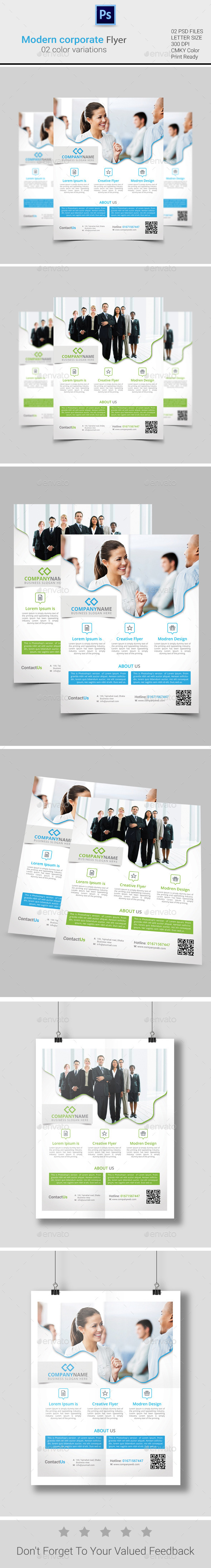 GraphicRiver Modern Corporate Flyer 10253539