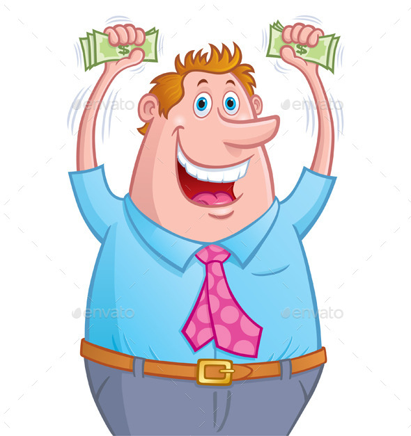 GraphicRiver Excited Man with Money 10253635