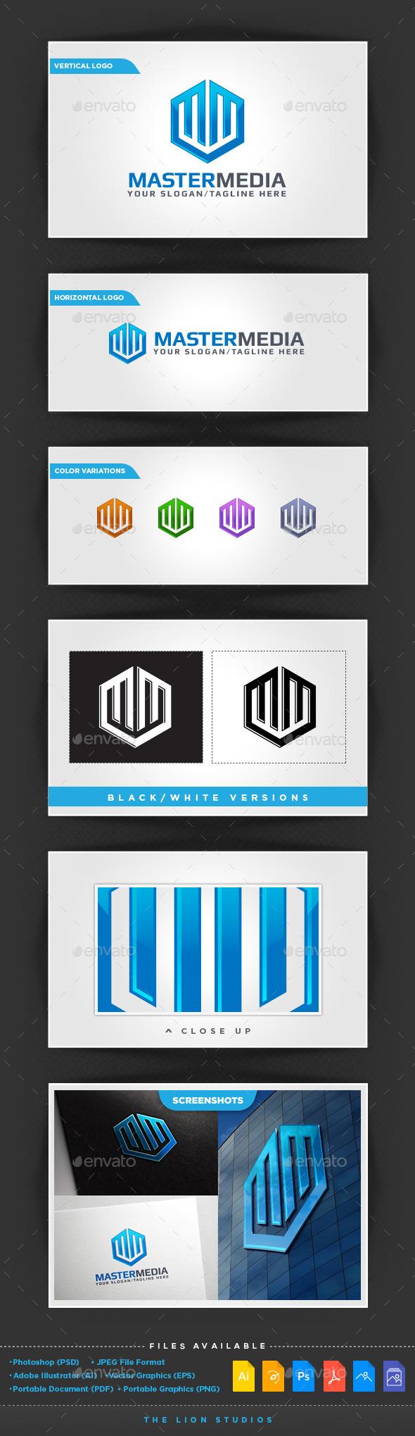 GraphicRiver MasterMedia Logo Template 10253657