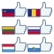 Thumbs Up Like Symbol With Flags - GraphicRiver Item for Sale