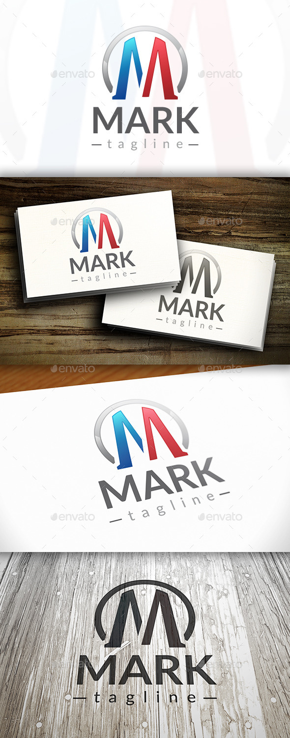 GraphicRiver Mark M Letter Logo 10253781
