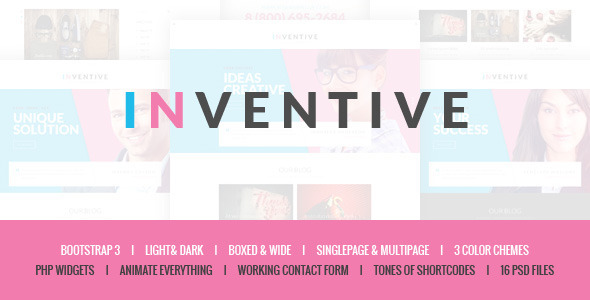 ThemeForest Inventive Creative Single & Multipage Template 10253861