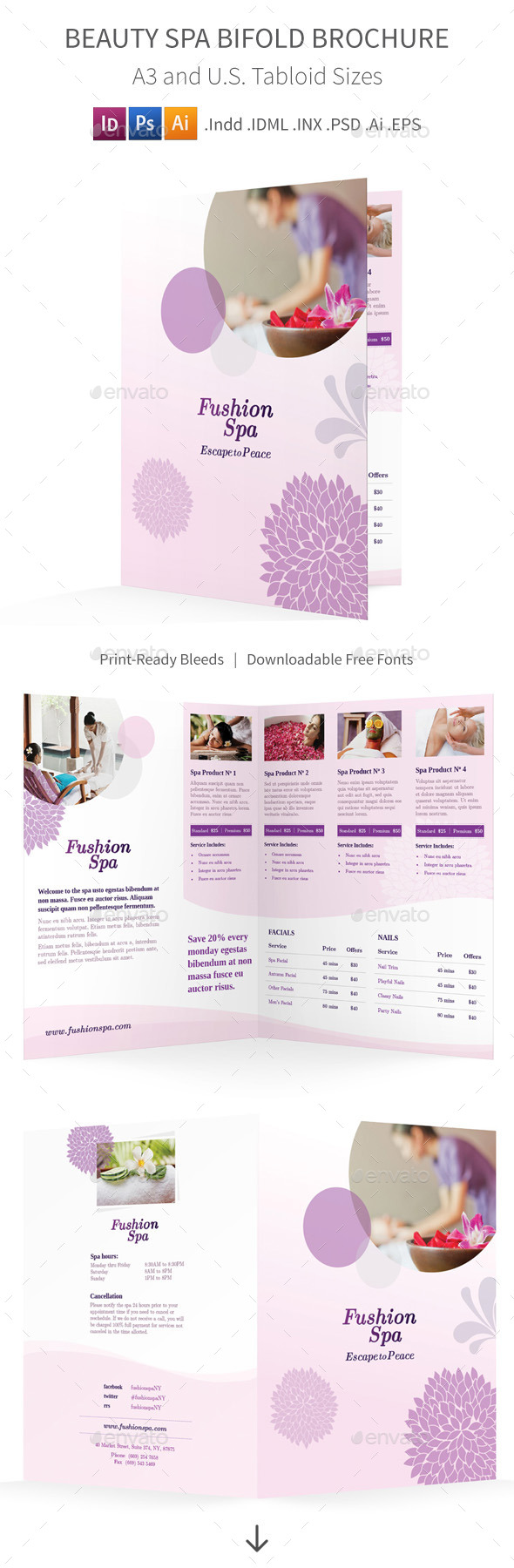 GraphicRiver Beauty Spa Bifold Halffold Brochure 10253874