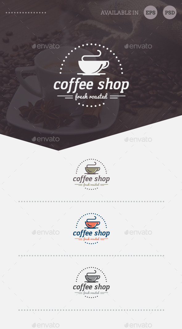 GraphicRiver Coffee Shop Logo Template 10254041