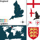 Map of England - GraphicRiver Item for Sale