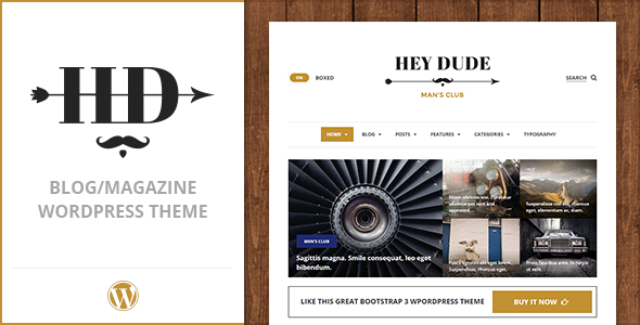 ThemeForest Hey Dude Magazine News & Blog WordPress Theme 10061879