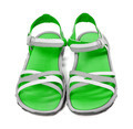 Pair of summer sandals. Front view. - PhotoDune Item for Sale