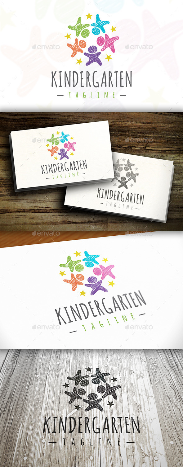 GraphicRiver Kindergarten Logo 10254341