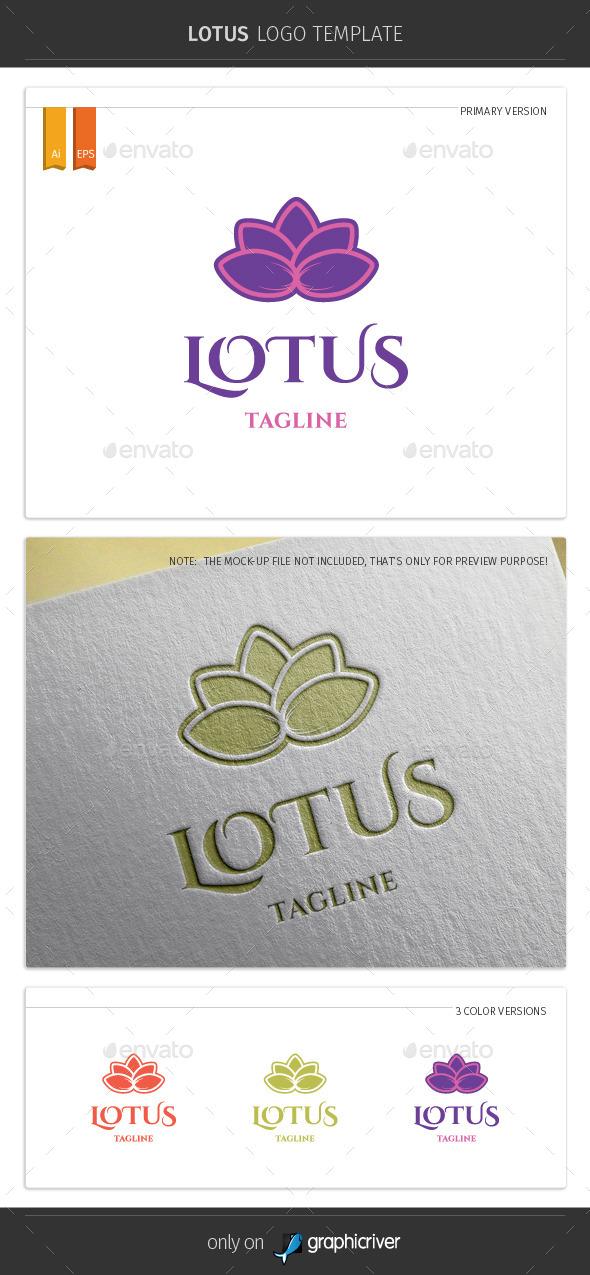 GraphicRiver Lotus Logo Template 10254349