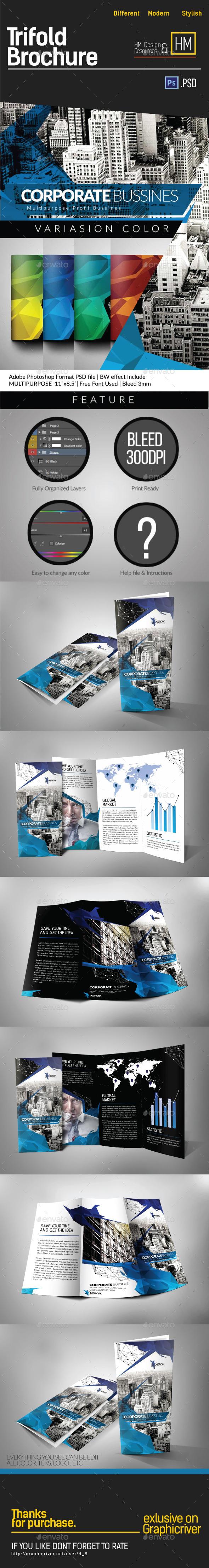 GraphicRiver Modern Architecture Tri-fold Brochure 10254416